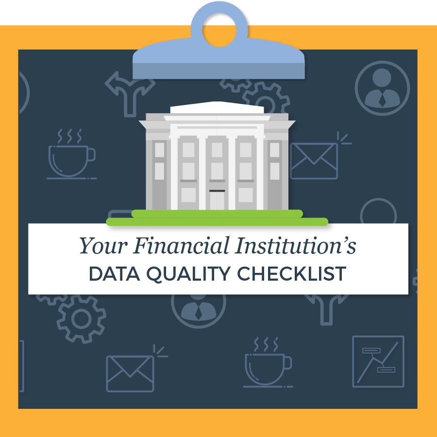 your financial institution's data quality checklist