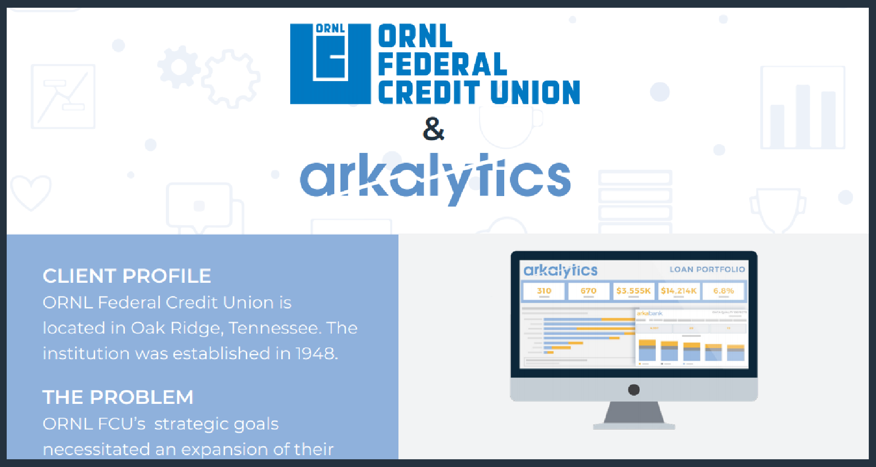 ORNL FCU Arkalytics Case Study cover image